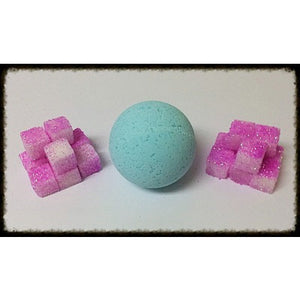 PINK SUGAR, BATH BOMB - Jewelry Jar Candles