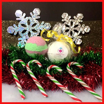 CANDY CANE SHOWER STEAMERS & BATH BOMBS FOR WOMEN