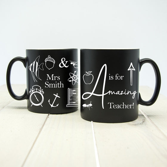 A is for Amazing Teacher Matte Coloured Mug, Mugs - Neon Cherry