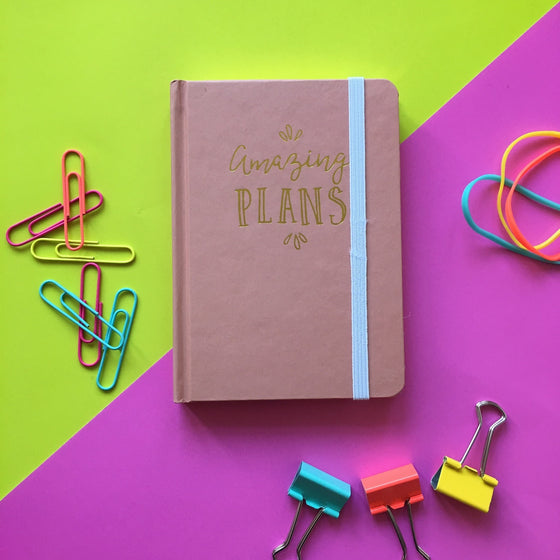 Amazing Plans Blush Pink A6 Notebook