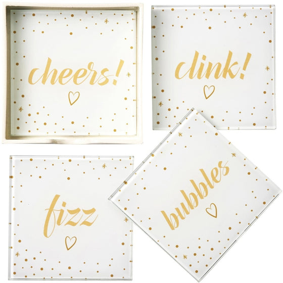Bubbles Set of 4 Coasters