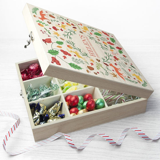 Festive Woodland Christmas Treat Box, Christmas Eve Boxes - Neon Cherry