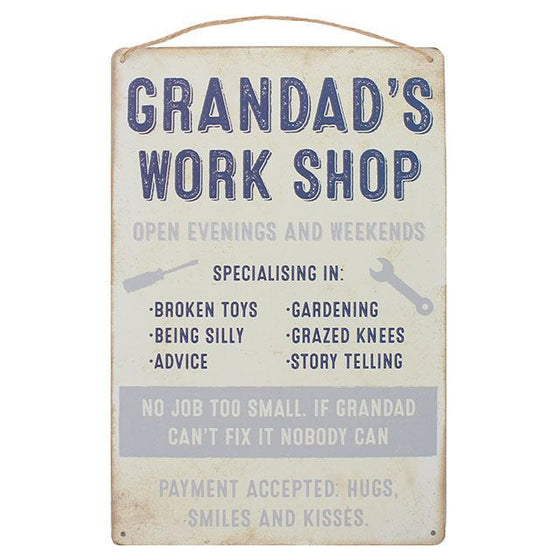 Grandad's Work Shop Sign