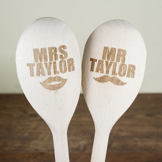 Mr and Mrs Wooden Spoons, Wooden Spoons - Neon Cherry