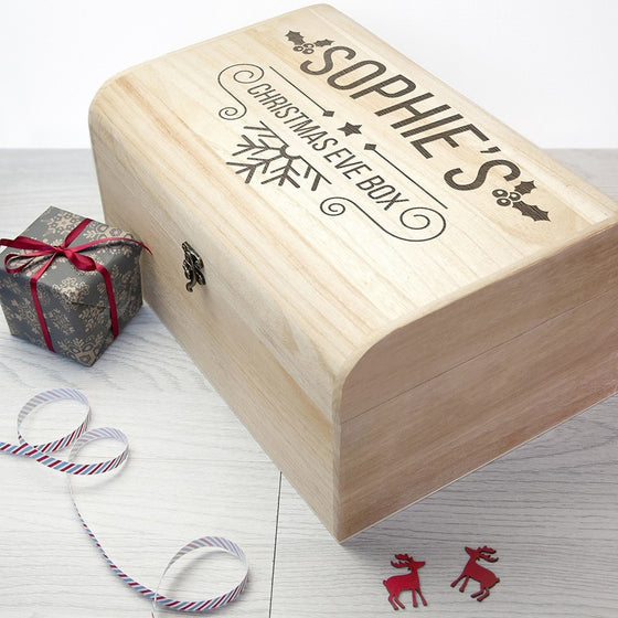 Personalised Christmas Eve Chest, Christmas Eve Boxes - Neon Cherry