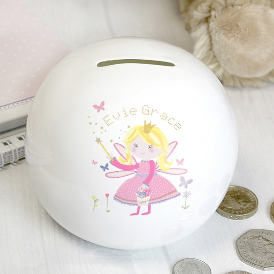 Personalised Garden Fairy Money Box