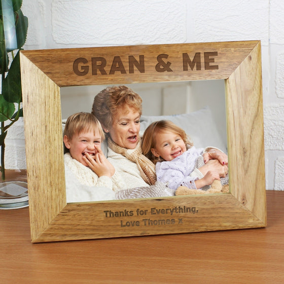 Personalised Gran & Me Wooden Photo Frame - 5x7