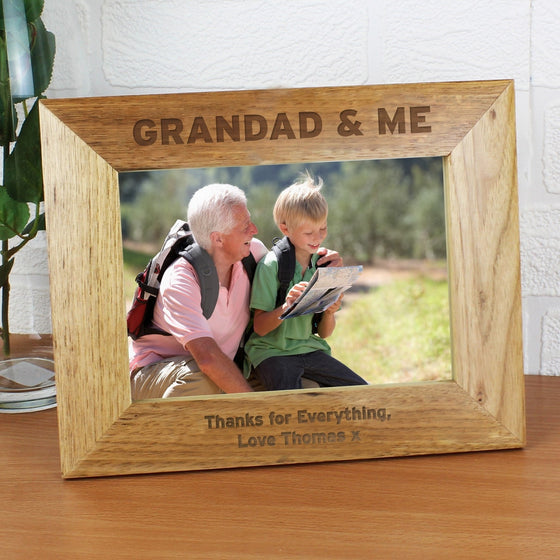 Personalised Grandad & Me Photo Frame - 5x7