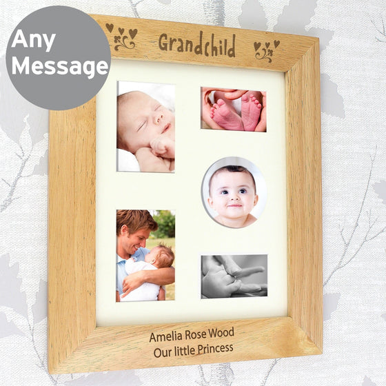 Personalised Grandchild Wooden Photo Frame - 10x8