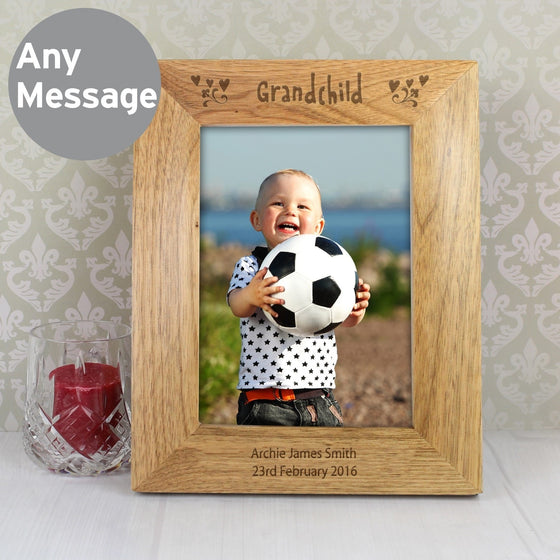 Personalised Grandchild Wooden Photo Frame