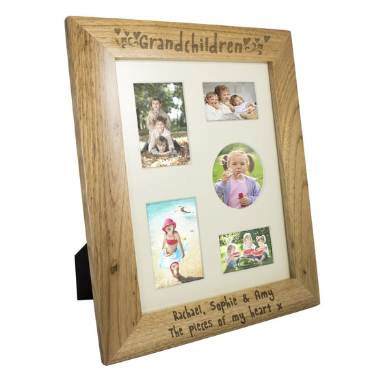 Personalised Grandchildren Wooden Photo Frame - 10x8