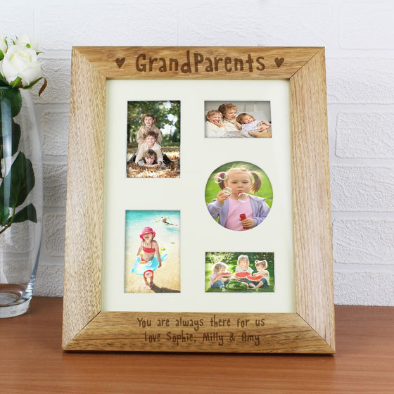 Personalised Grandparents Wooden Photo Frame - 10x8