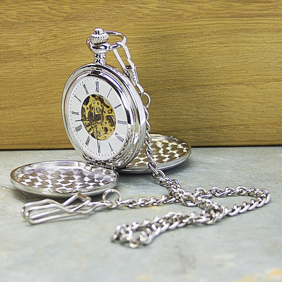 Personalised Heritage Dual-Side Pocket Watch, Pocket Watches - Neon Cherry
