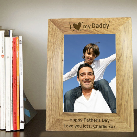 Personalised I Heart My... Wooden Photo Frame