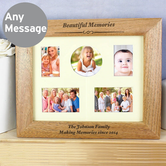 Personalised Landscape Wooden Photo Frame - 10x8