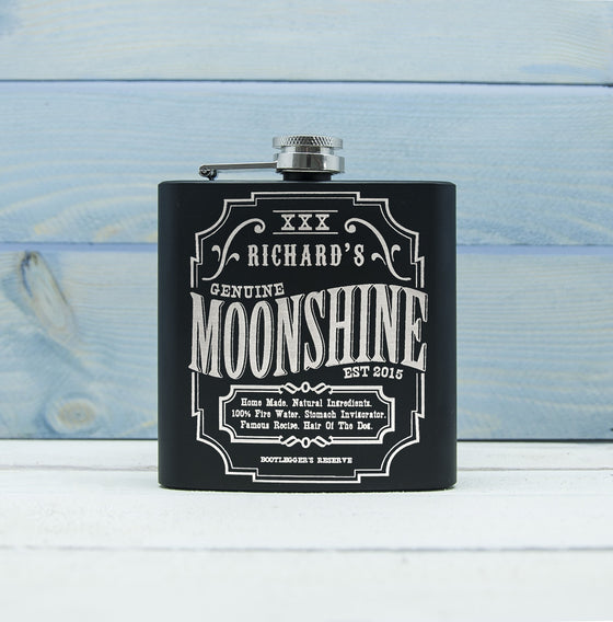 Personalised Moonshine Vintage Hip Flask, Hip Flasks - Neon Cherry