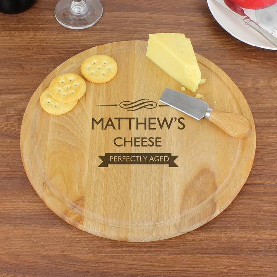 Personalised Perfectly Aged Round Cheeseboard