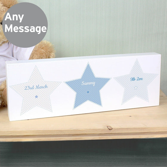 Personalised Stitch & Dot Boys Mantel Block