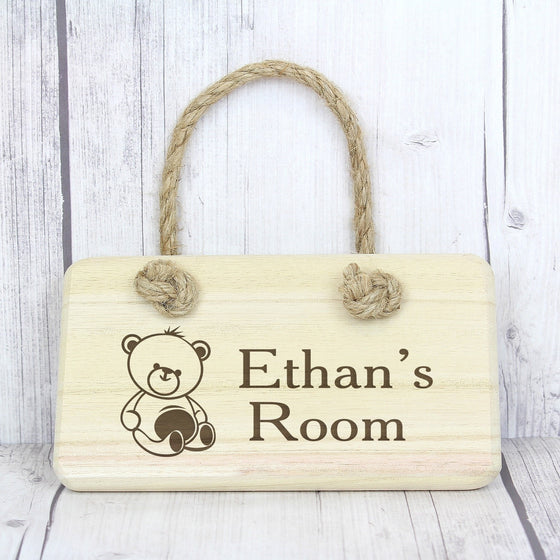 Personalised Teddy Wooden Sign