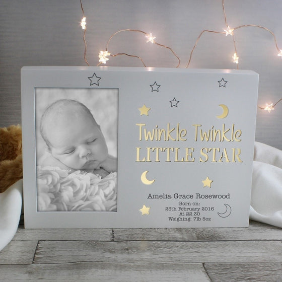 Personalised Twinkle Twinkle 6x4 Light Up Frame