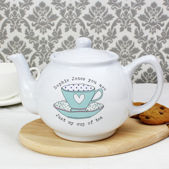 Personalised Vintage Tea Cup Teapot