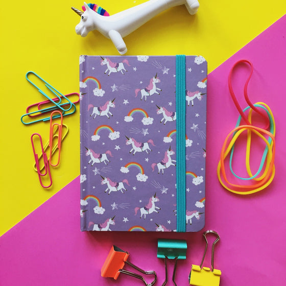 Purple Unicorn Notebook