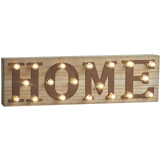 Retro LED Illuminated HOME Sign