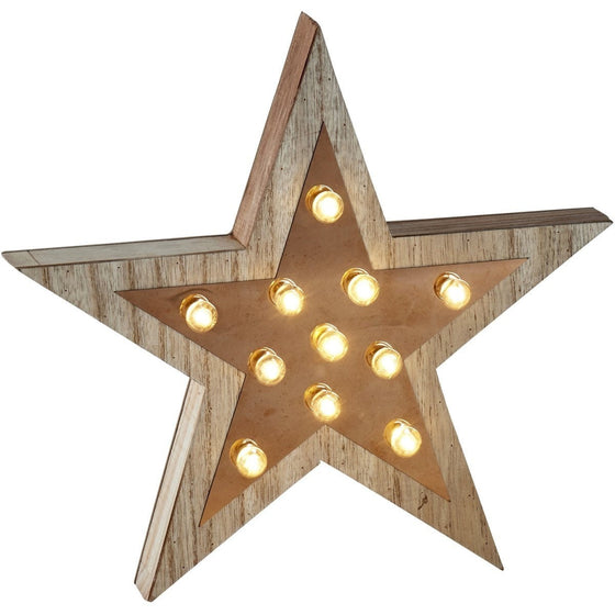 Retro LED Illuminated Star Sign