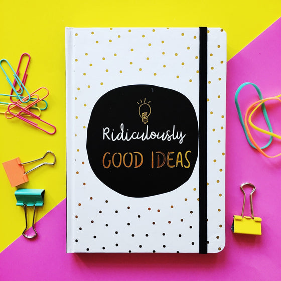 Ridiculously Good Ideas Monochrome A5 Notebook
