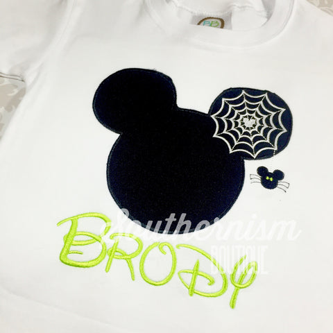 Personalized Halloween Shirt, Mickey, Mouse