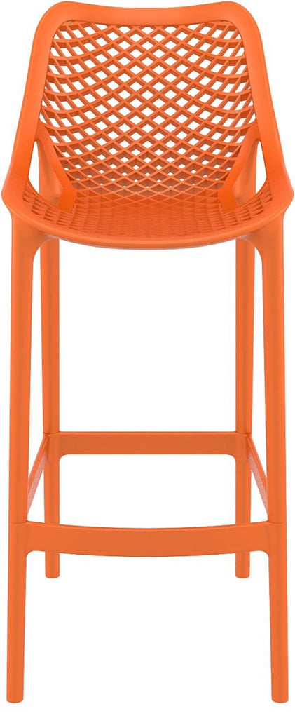 Compamia Orange Air Resin Outdoor Bar Stool Isp068 Ora Set Of 2 Neat
