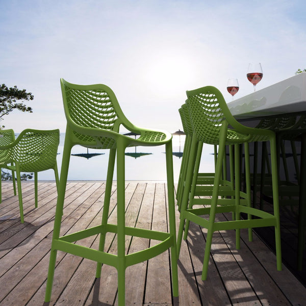 Compamia Tropical Green Air Resin Outdoor Bar Stool Isp068 Trg 2