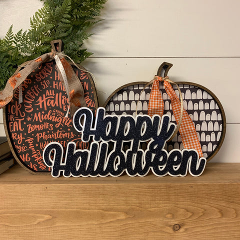 Happy Halloween Wreath Addition
