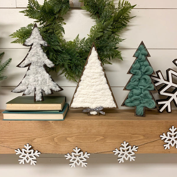 Wood Marquee Christmas Trees