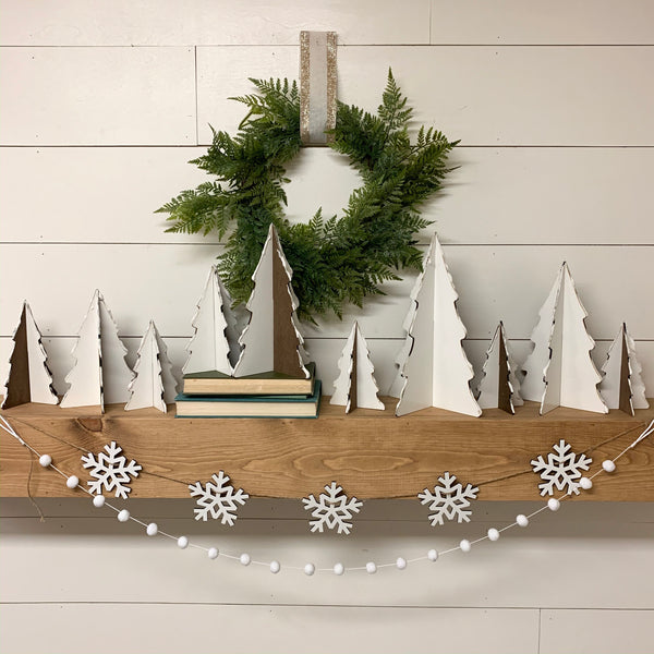 3D Wood Christmas Trees