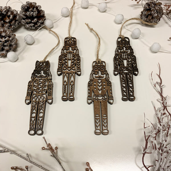Set of 4 Nutcracker Ornaments