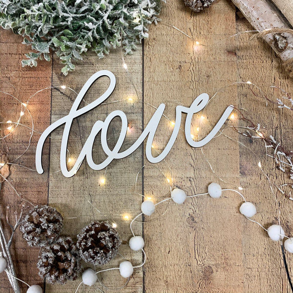 Christmas Tree Ornament Word, Hand Lettered Christmas Ornaments