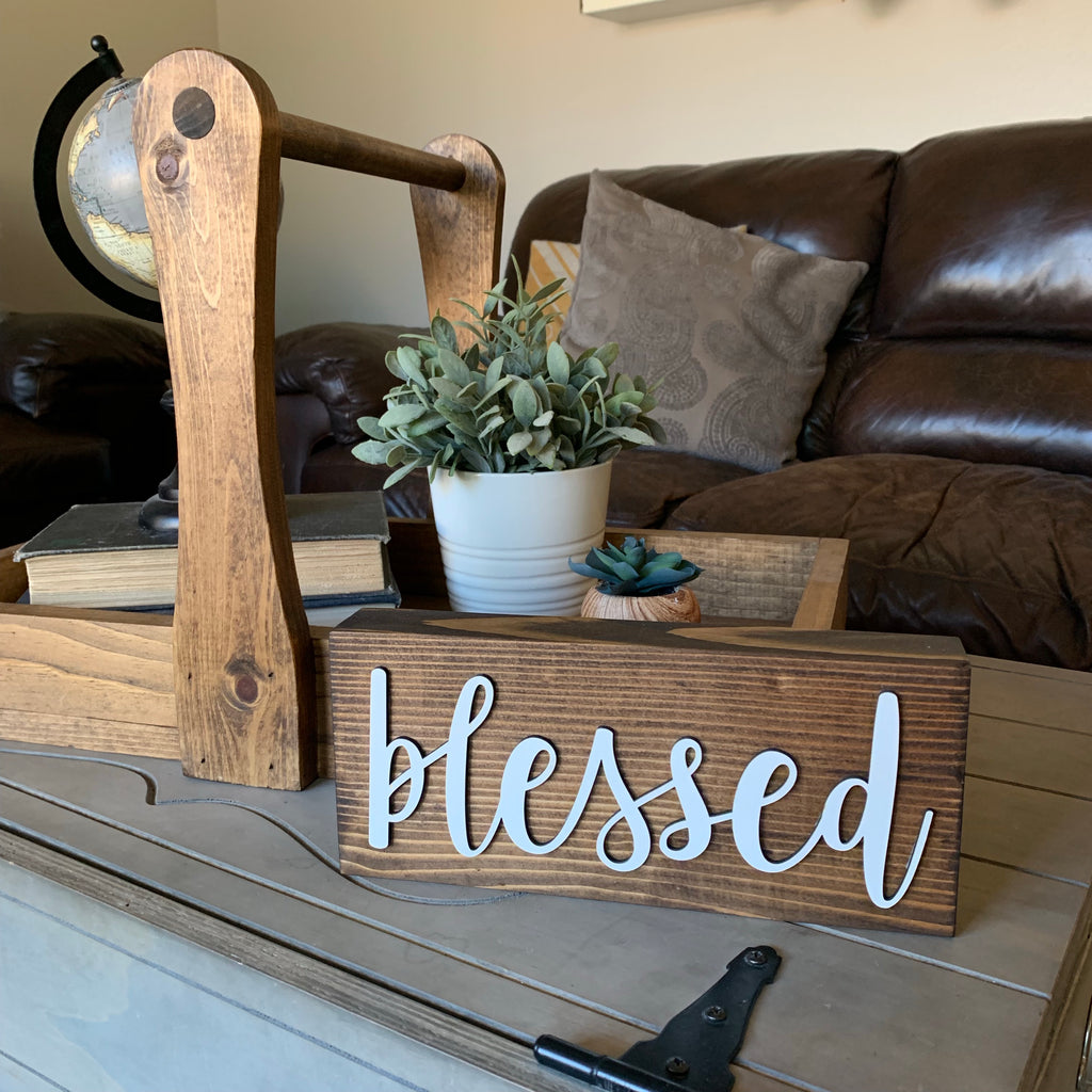 3d Blessed Wood Block Wooden Home Decor