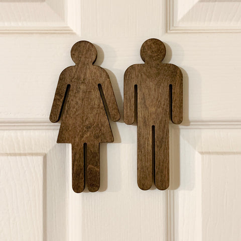 Bathroom People Door Decor