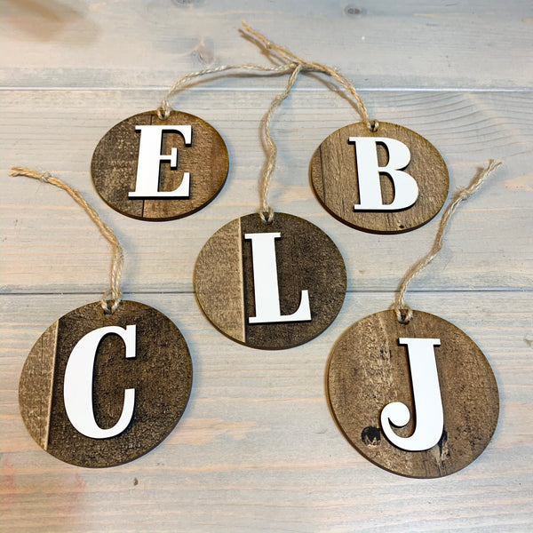 Christmas Letter Tags, Christmas Ornaments