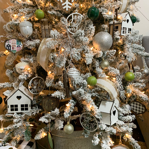 Set of 6 Christmas Tree Ornaments