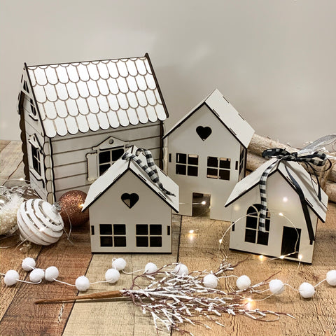 White Christmas Village Houses