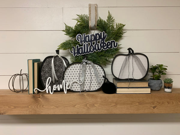 Large Wood Pumpkin Halloween Decor, Wooden Pumpkins Marquee Pumpkins