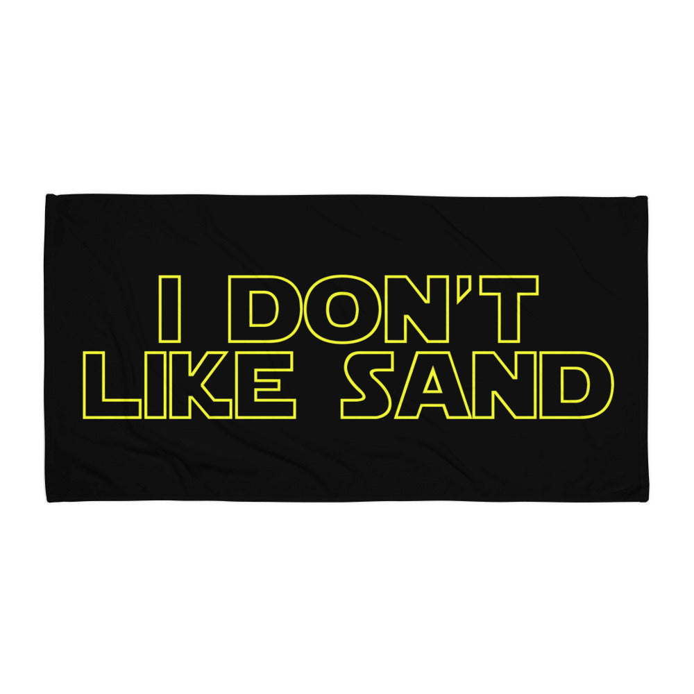 """I Don't Like Sand"" Star Wars Beach Towel"