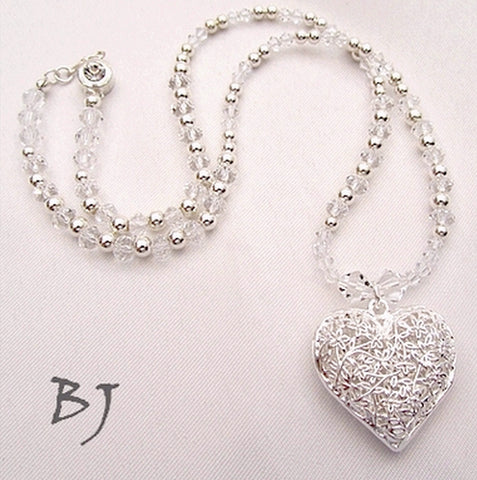 Brighten Up the Room with this Sterling Silver and Swarovski Crystal Necklace Set-Adornments by BJ