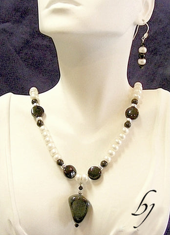 Essential Black and White Necklace Set-Adornments by BJ