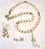 Freshwater White Button Pearls and Gold Filled Components-Adornments by BJ