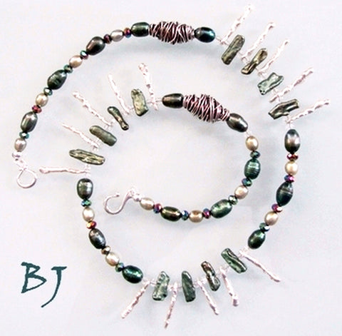 Pearls, Sticks and Bling-Adornments by BJ