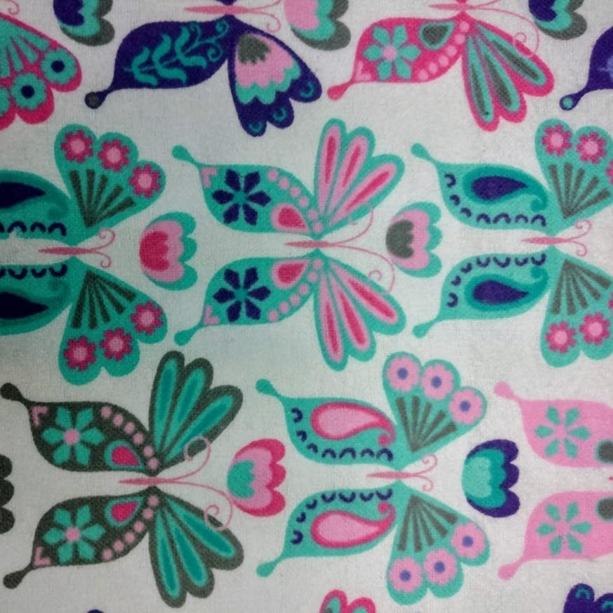 Purple and Teal Butterflies Liner