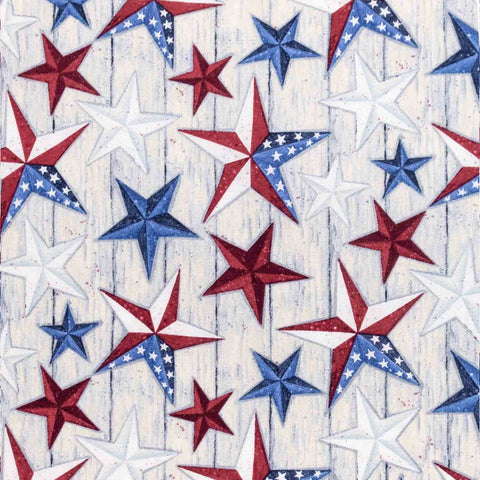 American Stars on Barn wood Basket Liner - Beach & Dog Co